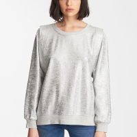 Karl Lagerfeld Women's 'Foil Structured Shoulder' Sweater