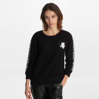 Karl Lagerfeld Women's 'Heart Patch' Long sleeve top
