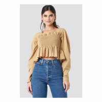 NA-KD Boho Women's 'Volume Sleeve Smock' Blouse