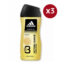 Adidas '3 in 1 Victory League' Shower Gel - 250 ml, 3 Pieces