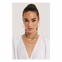 NA-KD Accessories Women's 'Stone Layered Chain' Necklace