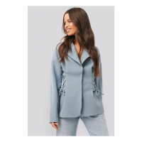 NA-KD Trend Women's 'Lace Up' Blazer