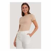 NA-KD Trend Women's 'Ribbed Cut Out' Top