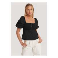 AFJ x NA-KD 'Square Neck Puff Shoulder' Top für Damen