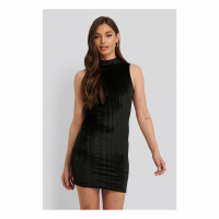 NA-KD Party Women's 'Striped Velvet' Mini Dress