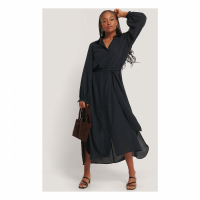 NA-KD Classic Robe maxi 'Belted' pour Femmes