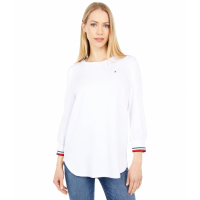 Tommy Hilfiger Women's 'Long Sleeve Global Cuff' Top