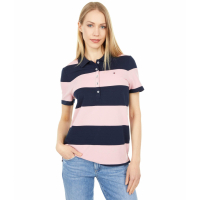 Tommy Hilfiger Women's 'Short Sleeve Rugby Stripe' Polo Shirt