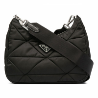 Prada Women's 'Quilted Triangle Logo' Shoulder Bag