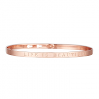 Bijoux à messages 'Life Is Beautiful' Armband