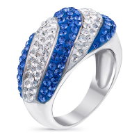 So Crystal 'Blue Ice' Swarovski Ring with Swarovski elements