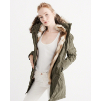 Abercrombie & Fitch Women's 'Three-In-One Faux Fur Lined' Parka