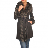 Arturo Women's 'Sarah' Coat with Rabbit & Fox Fur