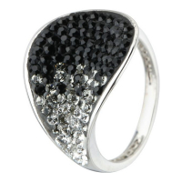 So Crystal 'Pétal Noir' Ring with Swarovski elements