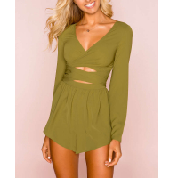 Roser the Label Women's Soft Wrapped Romper
