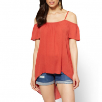 New York & Company Top 'Hi-Lo Off-The-Shoulder' für Damen