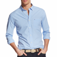 Tommy Hilfiger Men's 'Long-Sleeve Twain Check Classic Fit' Shirt