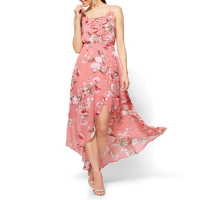 New York & Company Maxikleid 'Lace-Up Maxi  - Pink Floral'