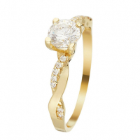 Or Bella 'Solitaire magnifique' Ring