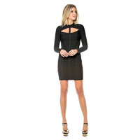 Sara Boo Women's Long Sleeve Bandage Dress