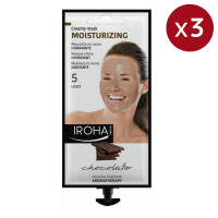 Iroha Nature 'Moisturizing - Chocolate' Creamy Mask - 3 x 5 uses