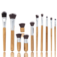 Zoë Ayla Professional 'Bamboo Eco' Make-Up Brush Set in Handy Carry Bag - 11 units