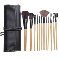 Zoë Ayla 12 Piece Professional Make-Up Brush Set + Handy Vegan Leather Travel Case