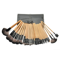 Zoë Ayla 32 Piece Professional Make-Up Brush Set + Handy Vegan Leather Travel Case