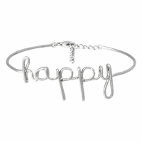 Bijoux à messages 'Happy' Bracelet