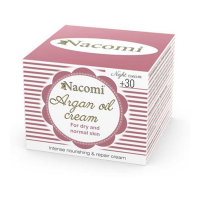 Nacomi Argan oil night cream with hyaluronic acid; 30+ - 50 ml