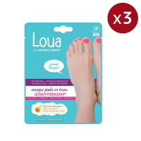Loua by Laurence Dumont Ultra-Hydrating Foot Sheet Mask x3