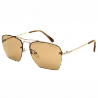 Tom Ford Unisex 'Aviator Semi Rimless' Sunglasses