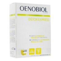 Oenobiol Détox Express Citron et Gingembre (10 Sticks)
