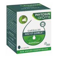 Phytosun Arôms Aromadoses Nose and throat - Case of 30 soft capsules