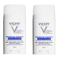 Vichy '24H Toucher Sec' Deodorant Stick - 40 ml, 2 Units