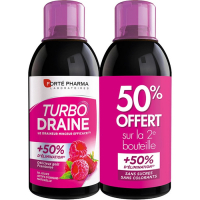 Forté Pharma Turbodraine lot  - Framboise- 2 x 500 ml