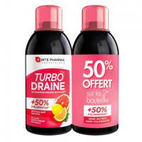 Forté Pharma Turbodraine lot  - Agrumes- 2 x 500 ml