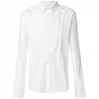 Balmain Men's 'Kent collar bib' Shirt