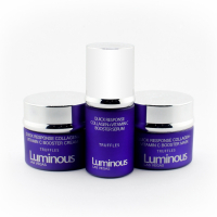 Luminous Las Vegas Set mit Quick Response Kollagen Vitamin C Serum + Creme + Maske