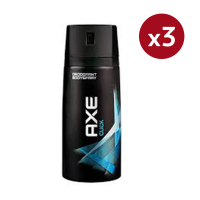 Axe 'Click' Deodorant Spray - 150 ml - Pack of 3