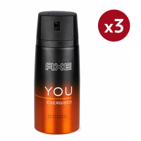 Axe 'You Energised' Deodorant Spray - 150 ml - Pack of 3