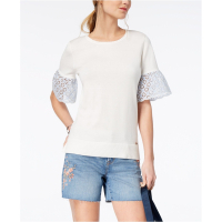 Tommy Hilfiger Women's 'Eyelet-Sleeve' Top