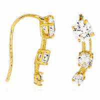 By Colette Or Eclat - Women's 'Trio de Pierre' Earrings