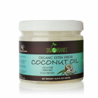 Sky Organics Organic Cold-Pressed Coconut Oil for Hair Color Correction
