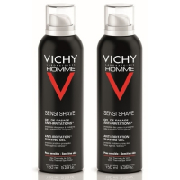 Vichy Pack of 2 Shaving Gel. Sensitive Skins - 2x150ml