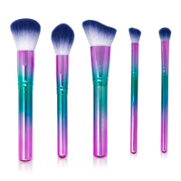 Zoë Ayla Holographic Purple 'Over-The-Rainbow' Crome Makeup Brush Set - 5 units