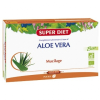 Superdiet Organic Aloe Vera 20 x Bulbs 15 ml
