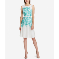 Tommy Hilfiger Women's 'Floral-Printed A-Line' Dress