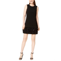 Calvin Klein Women's 'Faux-Feathers Sheath' Dress