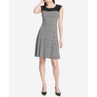 Calvin Klein Women's 'Plaid Flare' Dress